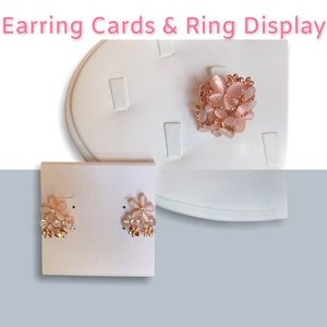 20 Earring Cards & 1 Ring Display